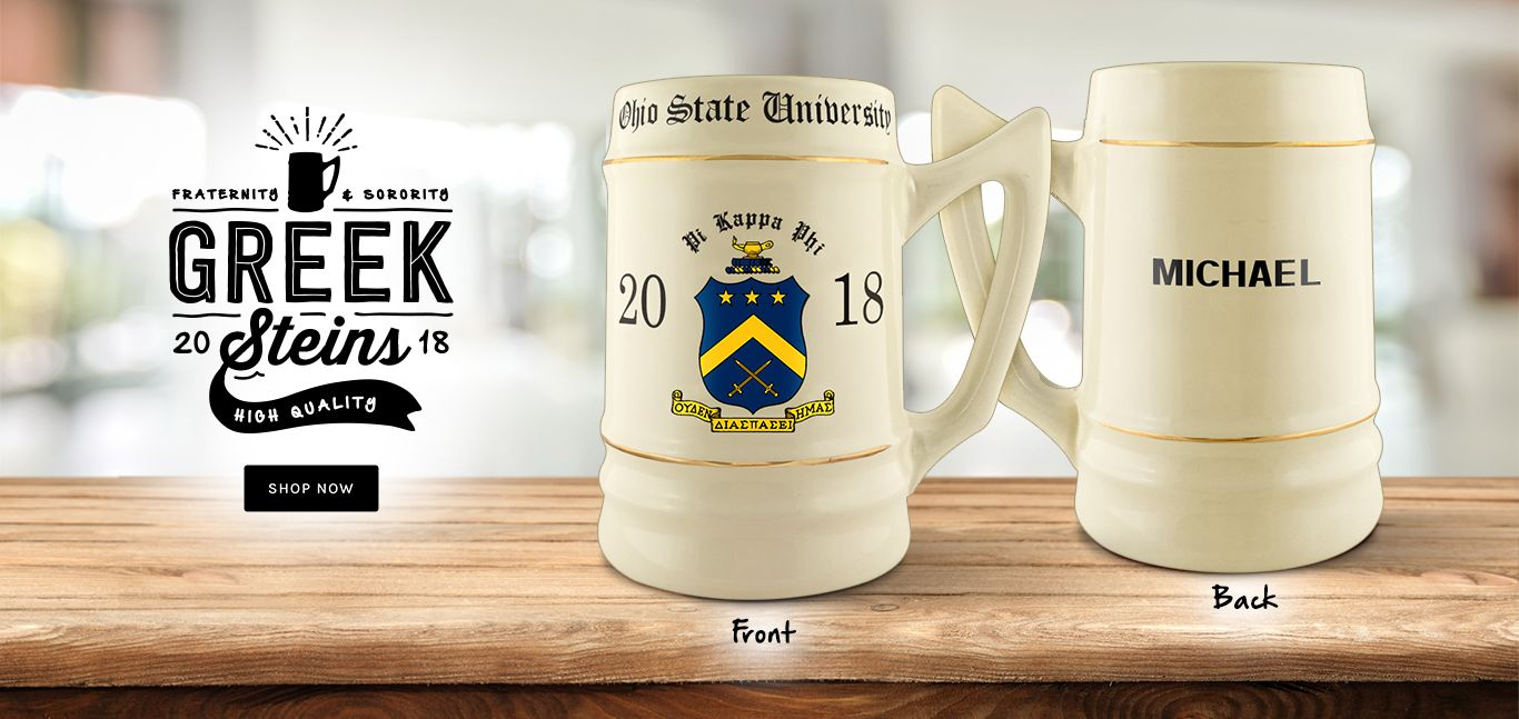 High quality Fraternity & Sorority steins!