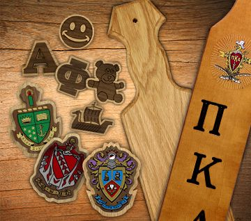 Fraternity and Sorority paddles since 1995